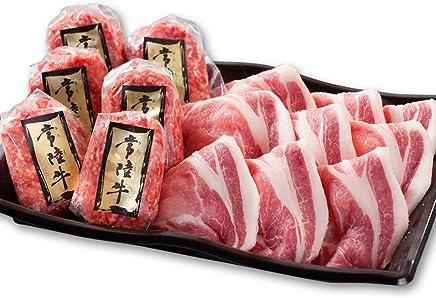 母の日 御祝 ハンバーグセット 常陸牛ハンバーグ&茨城豚ロース生姜焼きセット 肉のイイジマ 無添加 手捏ね