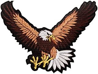 águila pájaro alas animal - Parches termoadhesivos bordados aplique para ropa