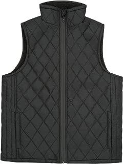 North 15 Women's Flannel Stand Collar Lightweight Quilted Gilet Zip Vest