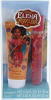 مجموعة هدايا إيلينا أوف أفالور من ديزني للأطفال - مجموعة هدايا من قطعتين، عطر دوار 10 مل، جل استحمام 25 مل