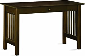 Atlantic Furniture Mission Writing Desk, Antique Walnut