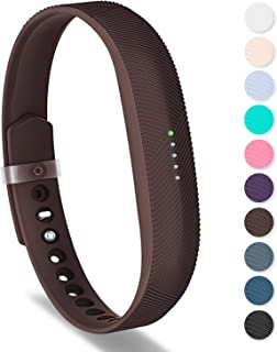 Greeninsync Compatible with Fitbit Flex 2 Band, Replacement for Fitbit Flex 2 Wristband Accessory Strap Small Brown W/Metal Clasp and Fasteners for Fitbit Flex 2 Fitness Smart Watch