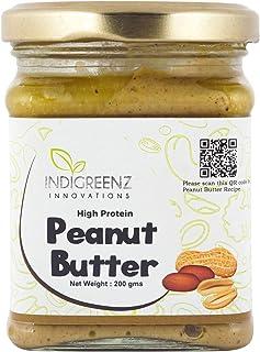 INDIGREENZ Peanut Butter All Natural Creamy, 200 gm (Vegan, Non GMO, High Protein, Keto) (Peanut Butter)