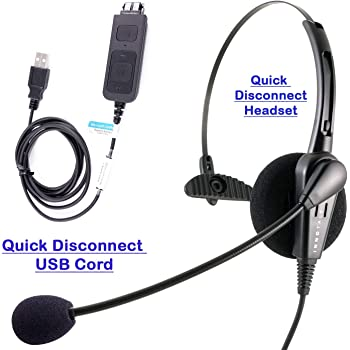 Amazon Com Cost Effective Usb Computer Headset Durable Call Center Headset For Voip Softphone Of Ms Lync Skype For Business Cisco Jabber Electronics