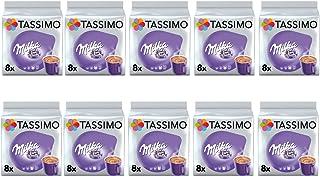 Tassimo Milka Dosettes de chocolat chaud - 10 paquets (80 boissons)