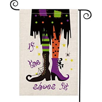 Double Sided  Flag  **GARDEN SIZE**   FG1180 Meeting Tonight Witches