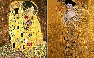 Adults' Paint by Number Kits, DIY Monet Van Gogh Klimt Acrylic Painting Replica, 16 x 20inch Decorative Paintings 2 PCS(No...