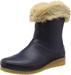 Joules Chilton Short Padded Rain Boots, French Navy, US 7