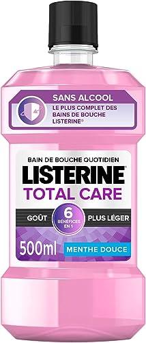 Listerine Bain de Bouche 6 en 1 Total Care Goût Plus Léger, 500ml