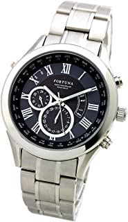 [Fortuna] Radio Controlled Solar Automatic Time Setting Perpetual Calender World Time Watch Men