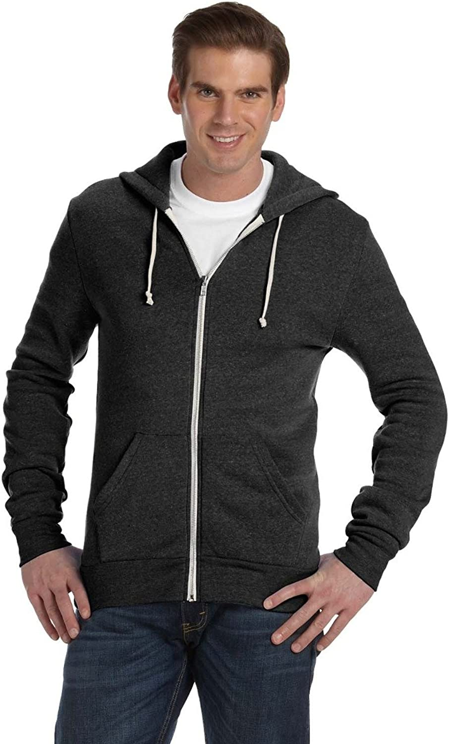 Alternative Mens Eco Zip Hoodie Hooded Sweatshirt