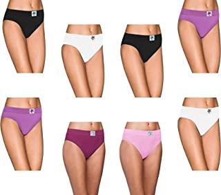 Pepperika Women's Maternity (Size XXL) High Middle Waist 100% Soft Breathable Cotton Hipster Brief Underwear Solid Color Full Coverage Hi Cut Pregnancy Panties (Pack of 8)