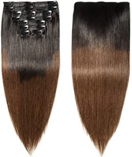 remy ombre clip in hair extensions