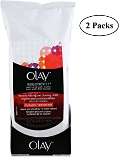 Olay Regenerist Micro-Exfoliating Wet Cleansing Cloths - 30 ct - 2 pk