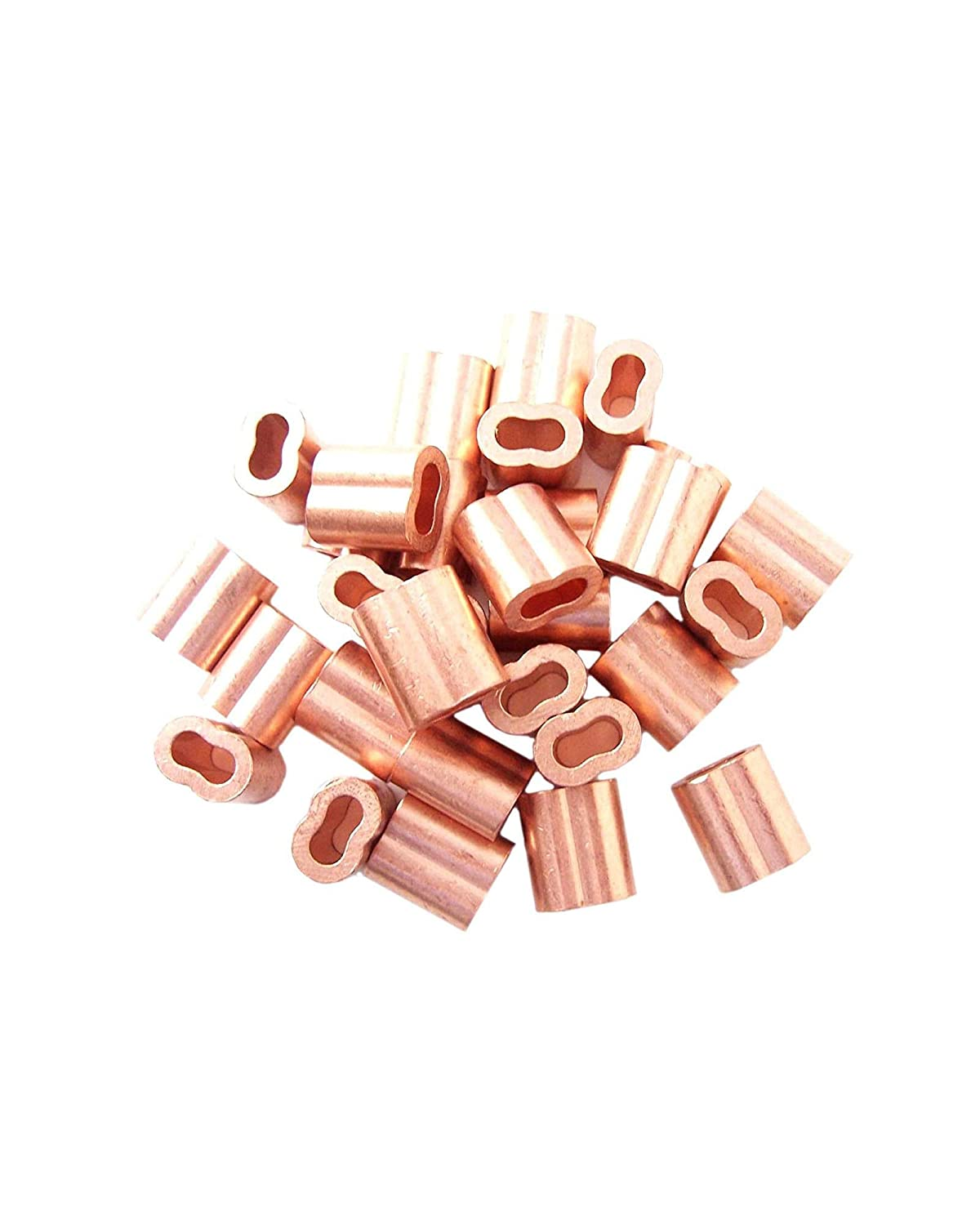 1//16/″ Copper Swage Sleeves 500 Cable Sleeves Cable Crimp Sleeves Crimping Loop Sleeve for 1//16 Diameter Wire Rope and Cable Wire Rope Crimp Sleeves Loop Sleeve Cable Crimp