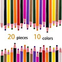 Hapy Shop 20 Pieces Sewing Mark Pencil No Cutting Sewing Fabric Pencil for Sewing Marking Tracing and Students Drawing,10 Colors