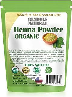 Oladole Natural Organic Henna USDA Certified 3.5 oz