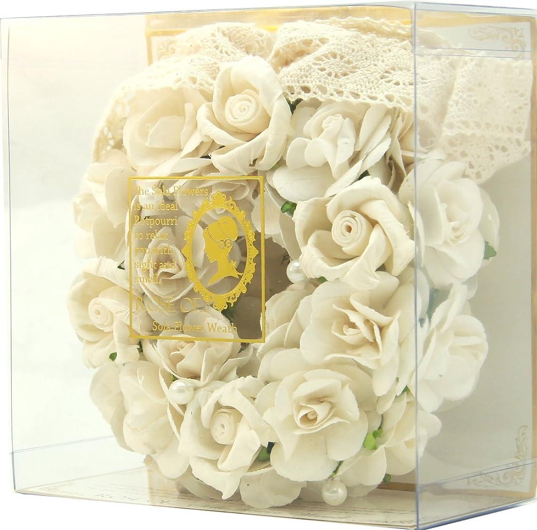 植物の解釈的宝石ROSE OF...ローズオブ... ソラフラワーリース BORDEAUX ROSE ボルドーローズ