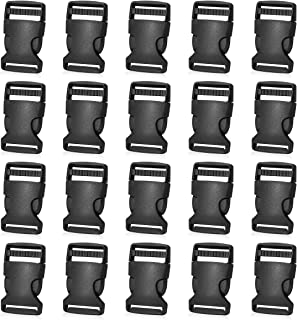 20 Pack - 1 Inch Side Release Plastic Buckles (Black)