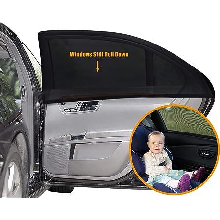 Ueoto Auto Sonnenschutz Für Baby 2 Stück Autofenster Sonnenschutz Für Kinder Mit Uv Schutz Blendschutz Auto Sonnenschutz Sonnenblende Sonnenschutzrollos Zubehör Für Seite Heckscheibe Fenster Auto