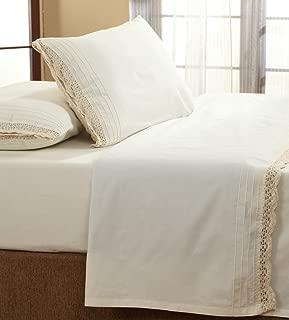 Be-You-tiful Home Cotton Crochet Sheet Set, King, Ivory