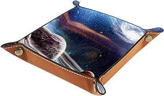 Plateau à bijoux Planet Plateau de rangement pour bijoux en cuir Petite boîte de rangement Organisateur de désordre 20.5x2...