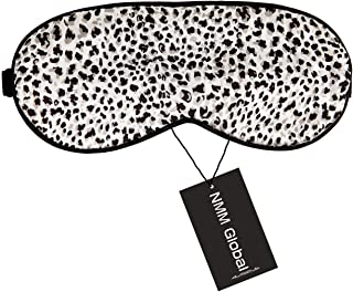NMM Global 100% Mulberry Silk Sleep Mask, Natural Sleeping Mask for Women, Super Soft Eye Mask for Sleeping with Free Ear Plugs(LEOPARD WHITE)