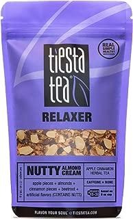 Tiesta Tea Nutty Almond Cream, Apple Cinnamon Herbal Tea, 30 Servings, 2.5 Ounce Pouch, Caffeine Free, Loose Leaf Herbal Tea Relaxer Blend, Non-GMO
