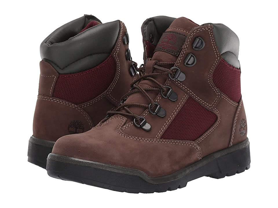 Timberland Kids 6 Field Boot (Big Kid) (Dark Brown Nubuck) Kids Shoes