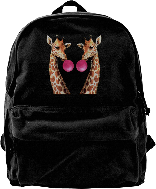 Giraffe Canvas Backpacks Laptop High-Capacity Popular brand in the world Schoolbag Nashville-Davidson Mall Bags Sho