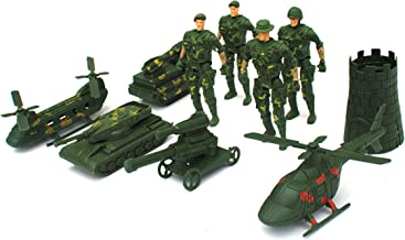 Zomaark® Military Plastic Soldiers Action Model Set Army Men Weapons Accessories Play Set Children Kids Role Play Toys Hom...