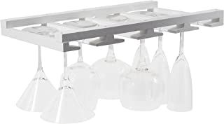 Rustic State Eze Stemware Wine Glass Rack Fits 6-12 Glasses Under Cabinet Easy to Install White
