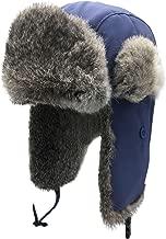 Unisex Reflective Waterproof Winter Trapper Hat Mask/Neck Russian Ushanka Hat Snow Skiing