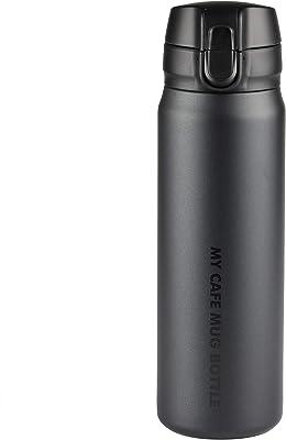 パール金属(PEARL METAL) マグボトル マットブラック 500ml ワンタッチ マイカフェマグ HB-4785