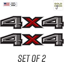 GOLD HOOK 2017 Ford F150 4x4 Decal FG Offroad Stickers Truck Bed Side Graphics (Set of 2)