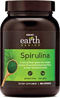 GNC Earth Genius Spirulina, 100 Capsules