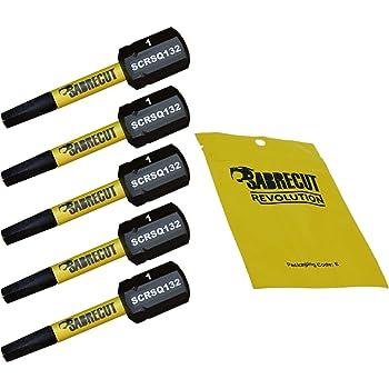 Bosch Makita et autres Milwaukee SabreCut SCRSQ132/_10 Lot de 10 embouts de visseuse /à choc magn/étiques carr/és 32 mm SQ1 pour Dewalt