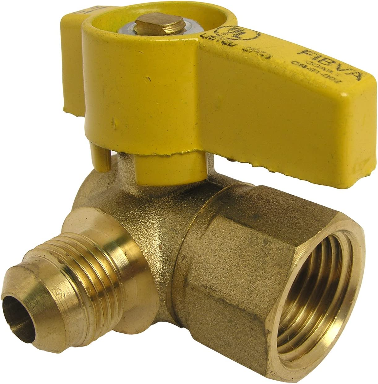 LASCO 10-1615 Angle Limited time cheap sale Gas Ball Valve with Max 48% OFF 1 and Flare 3 2-I 8-Inch