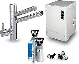 SPRUDELUX Système d'eau potable sous évier Power Soda sans unité de filtration, avec robinet 5 voies avec douchette extrac...