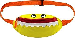 ZGMYC Kids Toddlers Cartoon Shark Crossbody Fanny Pack Canvas Cute Running Waist Bag for Boys Girls