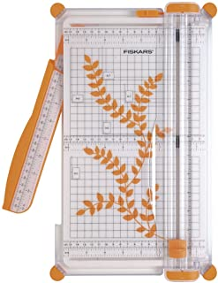 Fiskars SureCut Cizalla grande para papel, A4, Con guía de