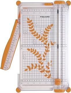 Fiskars SureCut Cizalla grande para papel, A4, Con guía de línea de corte, 1003758