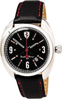 Ferrari Mens Quartz Watch, Analog Display and Leather Strap 0830238