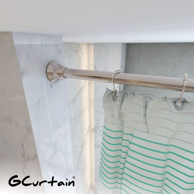 Blanco 106-182 cm Gcurtain Barra de Cortina de Ducha Barra de Tensi/ón de Resorte Riel de Ducha Extensible Ajustable Divisor para Armario de Ba/ño Ventanas Di/ámetro 22-25 mm
