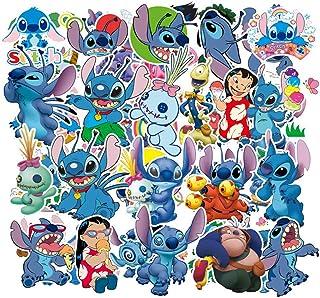 Ratgoo 55Pcs Blue Cute Cartoon Anime Lilo & Stitch Waterproof Vinyl Graffiti Decal Stickers for Kids Teens Students Boys Girls for Water Bottles Laptop MacBook Toddlers Desk Flasks Room Wall Car Bike