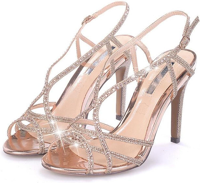 Robert Westbrook shoes Woman Strappy High Heel Sandals Women Ankle Strap Sandals gold Sandals Sandalias