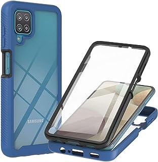 Lijc Hoesje voor Samsung Galaxy A12 Ingebouwd PET Scherm Beschermer 360°Volledige Lichaam Slim ArmorPantserkoffer Hybride ...