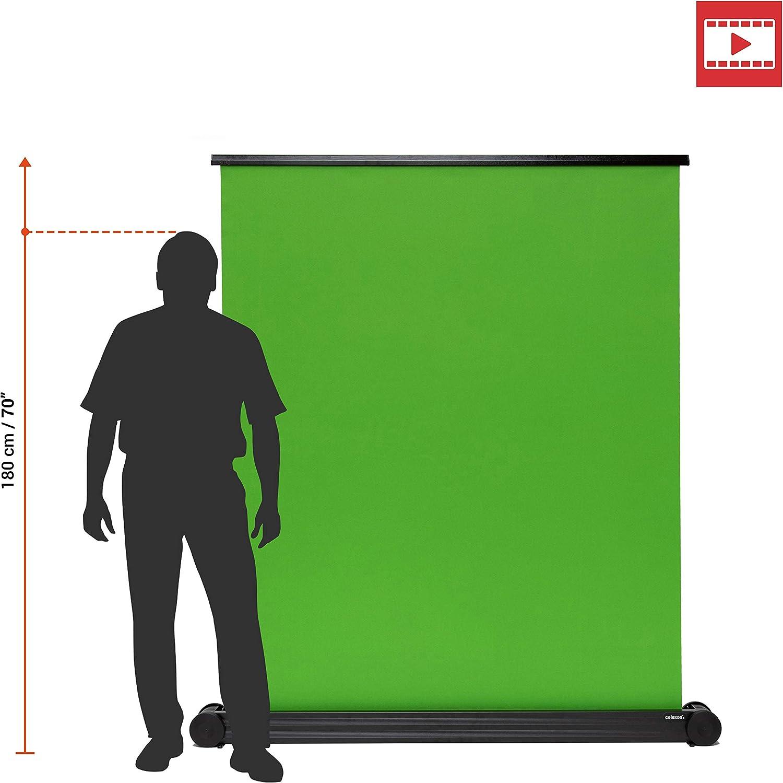 Installation Rapide avec Sac de Transport Inclus cr/éation de Contenu vid/éo 150x180cm pour int/égration de Fonds Broadcast celexon /écran de Projection Mobile et Portable /à Fond Vert