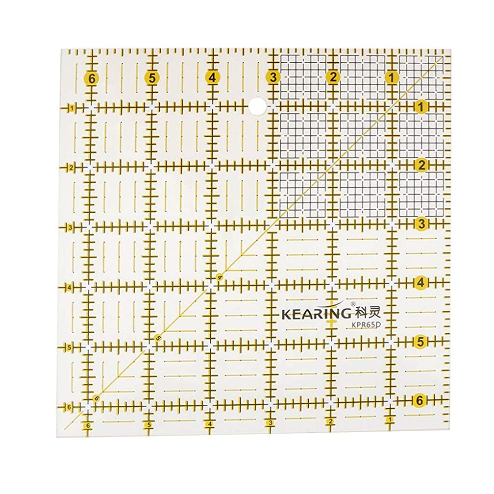 Square Shape Grid Quilting Template Rulers Acrylic Sewing fit for Easy Precision Cutting