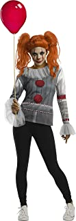 Women's IT Movie Chapter 2 Pennywise Costume Top and Make Up, As Shown